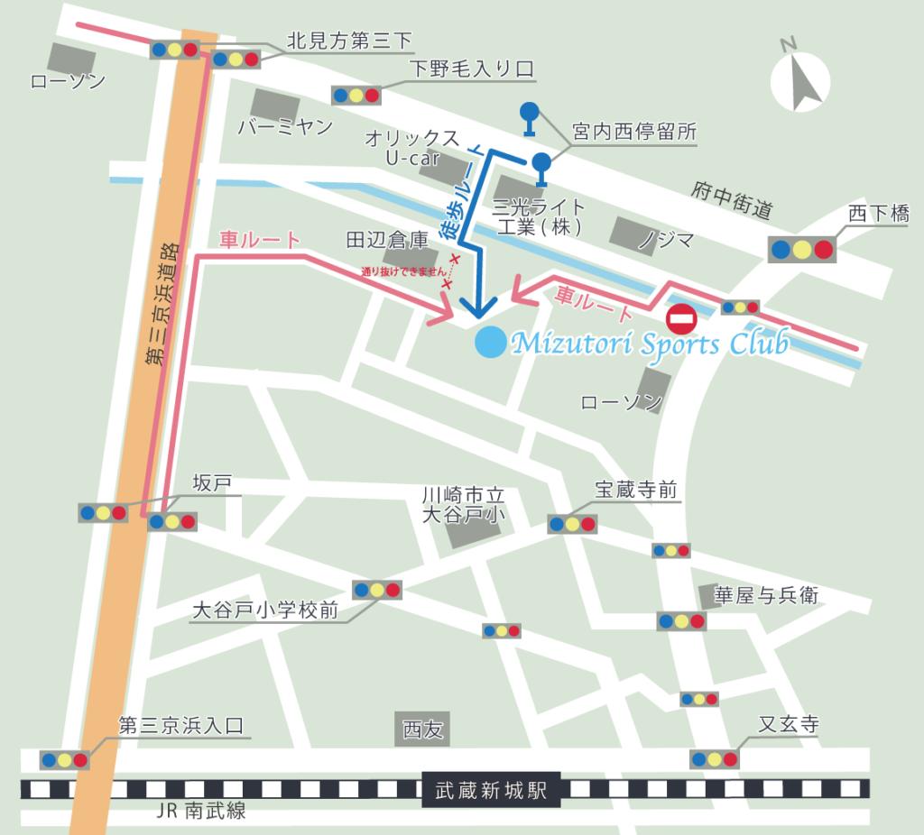 武蔵新城gym地図